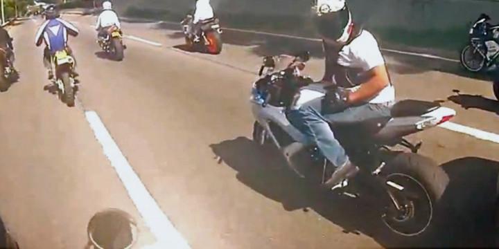 Motorcycle gang attack