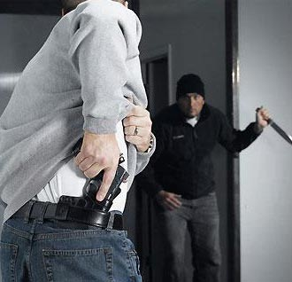 Self defense with gun