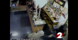 VIDEO: Store owner shoots armed robber in chest