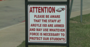 "Texas School District Now Has Signs That Say ""Hey Bad Guys, We Will Shoot Back"""