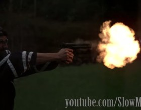 [VIDEO] Possibly The Most Awesome Slow-Motion Video Of Shooting Things