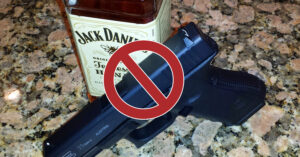 Alcohol And Firearms Do Not Mix, Even If You Take The Magazine Out Before Pulling The Trigger