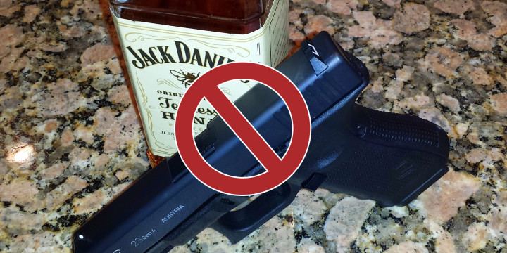 Is drinking while carrying a firearm a bad idea yes