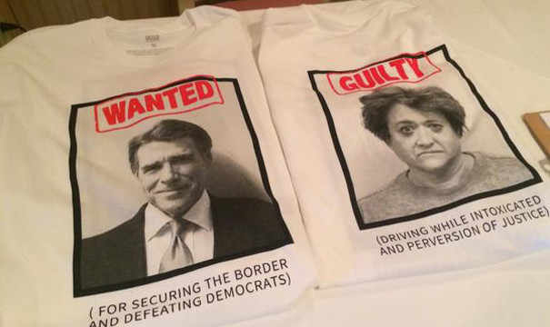 Rick perry tshirt mugshot