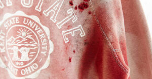 Urban Outfitters Offers Blood-Soaked Kent State University Sweatshirt For Sale; This Is Not A Joke