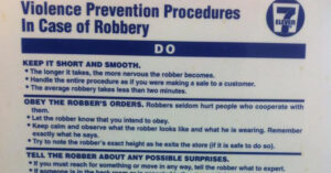 7-Eleven Likes Defenseless Employees, According To Their List Of Do's And Don'ts In Case Of Robbery