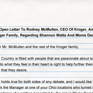 Open letter kroger open carry mda