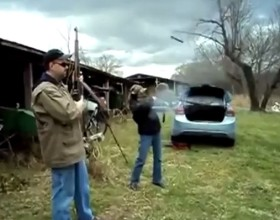 [VIDEO] The Dangers Of A Squib Load: Rifle Explodes In Girls Hands