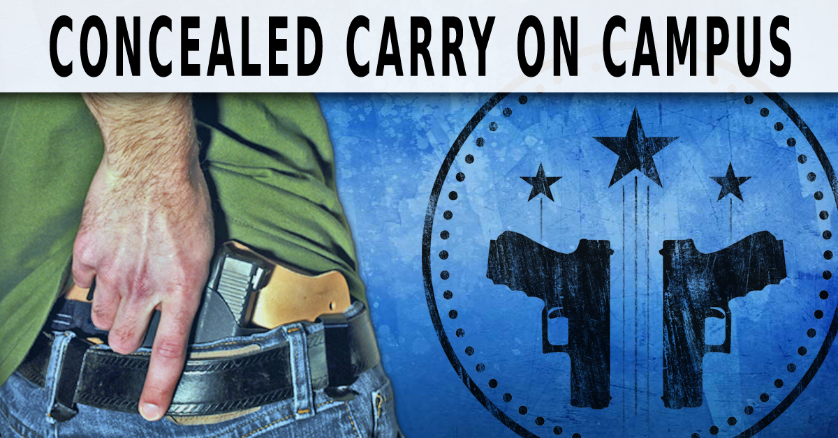 concealed weapons on campus opportunity or The transition allows concealed carrying of handguns and family protection act affecting concealed carry on campus of institutional opportunity.