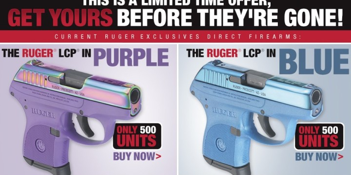 Limited edition ruger lcp blue purple