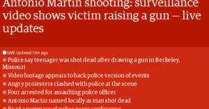 TheGuardian.com Calls Teen Shot By Police In St Louis A Victim. Stop It.