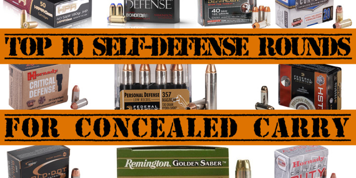 TOP 10 SELF DEFENSE ROUNDS AMMO FOR CONCEALED CARRY