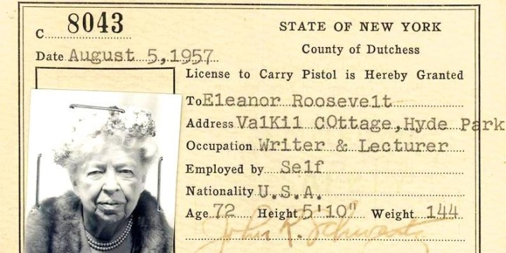 Eleanor roosevelt ny concealed carry permit