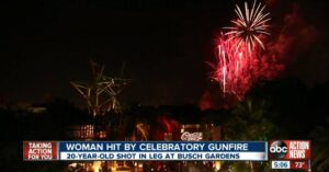 [VIDEO] Woman Hit By Falling Bullet On New Years Eve In FL