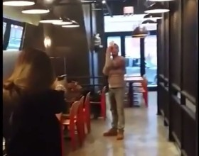 [VIDEO] Woman Pulls Out Gun To Defend Herself During Restaurant Brawl