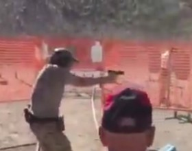 [VIDEO] As Scary As It Gets: Man Is Downrange During Shooting Competition, Nearly Gets Shot