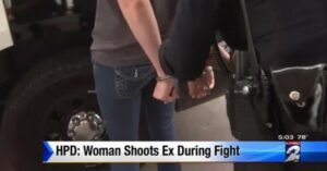 Not Guilty, and Handcuffed; Woman Forced to Shoot Attacking Ex At Gas Station In Houston