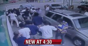 [VIDEO] Gun In Car Doesn't Help Man Being Attacked By Mob Of Teens At Gas Station