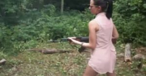[VIDEO] Woman Almost Takes Out Her Boyfriend With AK-47 Because She Has No Idea About Firearm Safety
