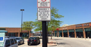 """No Concealed Weapons"" Sign Is Just Dumb, Especially When Coupled With The Sign Below It"