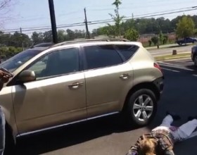 RAW VIDEO: Man Holds Attempted Carjacking Suspect At Gunpoint, On Point And By The Book
