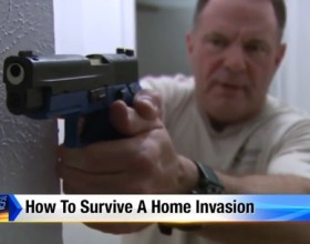 "Finally, A News Station That Recommends Having A Gun On Their ""How To Survive A Home Invasion"" Segment"