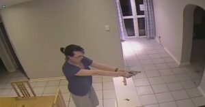 Intense Video Shows Home Invasion In Progress, Armed Woman Fires At Intruders