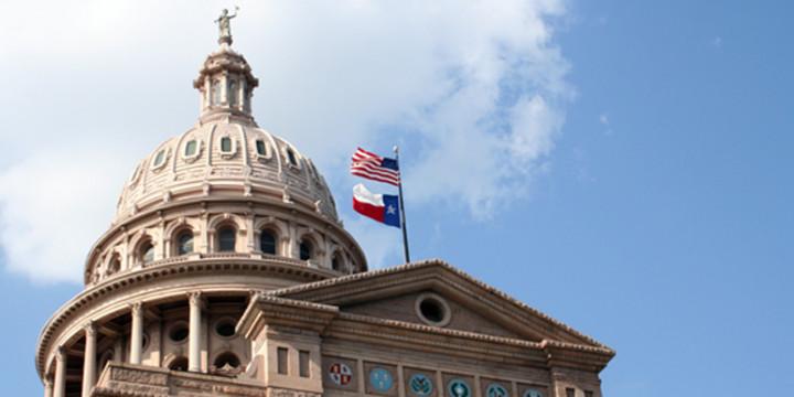 Texas flag capitol