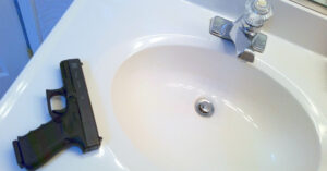 Forgetful Gun Owner Leaves Handgun On Bathroom Sink In Pizza Shop, Handed Misdemeanor Charge
