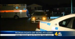 ONE TOUGH MOM: Two Thugs Have Their Gun Wrestled Away By A Mom Not Going Down Without A Fight During Home Invasion
