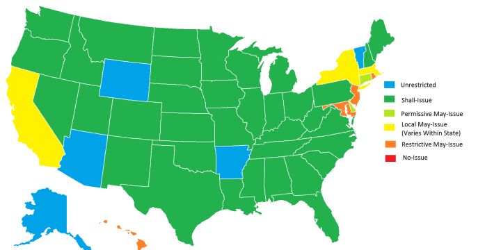 Concealed carry in states