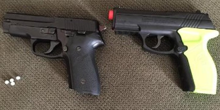 Deputy drops concealed firearm
