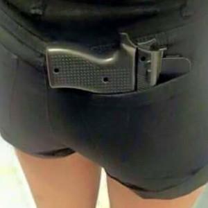 Gun phone case stupid