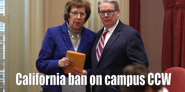Lois Wolk D Davis introduces SB 707 to the California Senate floor SB 707 explicitly bans concealed carry on campus