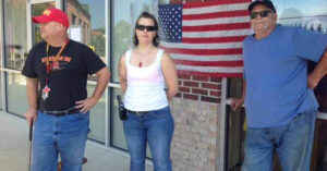 Armed Citizens Stand Guard Outside Army Recruiting Center After Deadly Attacks In Chattanooga