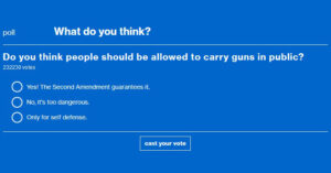 MSNBC POLL: Should People Be Allowed To Carry Firearms In Public? The People Have Spoken…