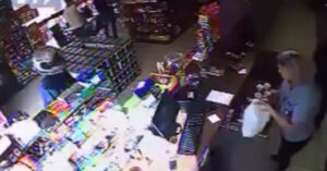 [VIDEO] Nobody Had A Gun To Stop This Armed Robber – So They Got Creative…
