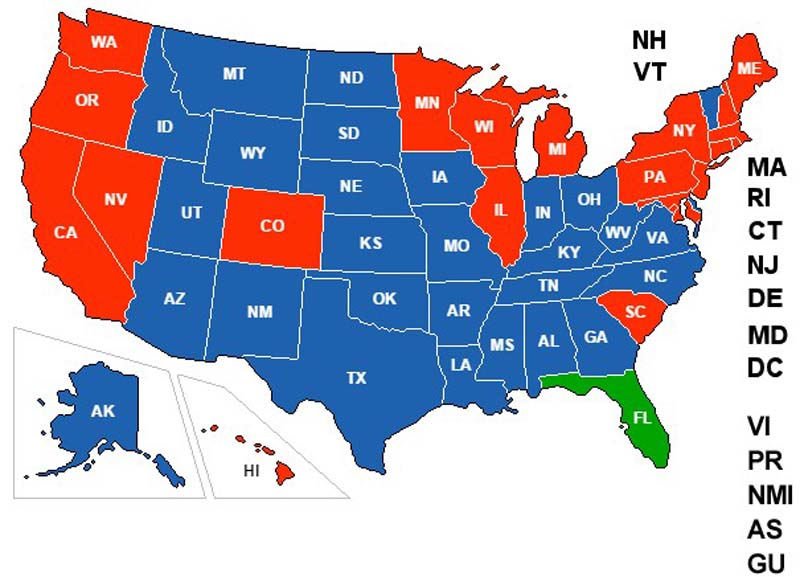Florida Concealed Carry Reciprocity Map Did You Know There's An Interactive Concealed Carry Reciprocity  Florida Concealed Carry Reciprocity Map