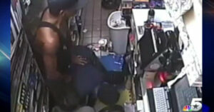 Gas Station Clerk Shoots Robber With His Own Gun During Violent Armed Robbery
