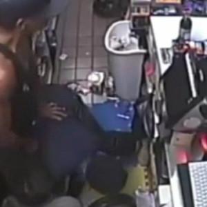 Clerk robbery takes gun