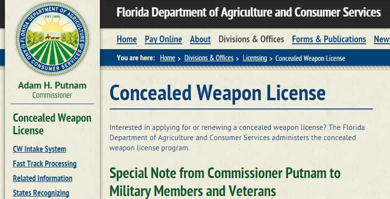 Florida Expiditing Concealed Carry Permits For Active Military And ...
