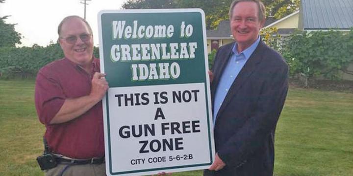 Greenleaf idaho not a gun free zone