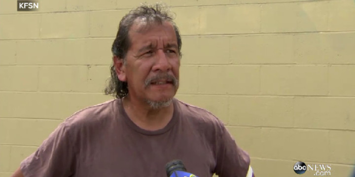 CA homeless man defends woman