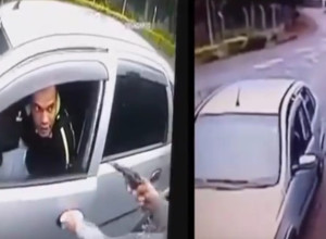 [VIDEO] Perfect Draw From Holster While Seated In Car During Attempted Armed Robbery