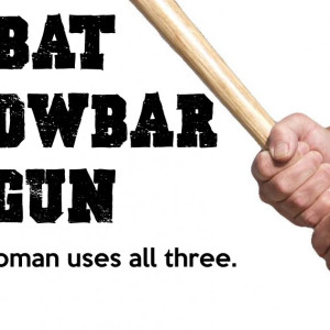 Bat crowbar gun