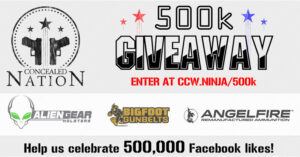 500k GIVEAWAY!! We're Giving Away 3 Pistols, 6 Holsters, 3 Belts and Hundreds of Rounds of Ammunition! ENTER NOW!