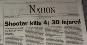 SHOOTER = MENTALLY ILL DRIVER In This Week's Newspaper