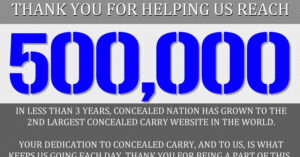 Dear 500,000 Concealed Nation Facebook Fans: THANK YOU
