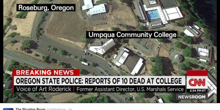 Oregon shooting tweet