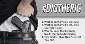 #DIGTHERIG – Show Us What You Carry And Why